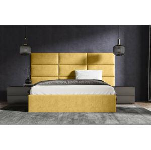 Čalouněná postel Lucy 2 - 160x200 cm Barva látky Casablanca: Žlutá (18)