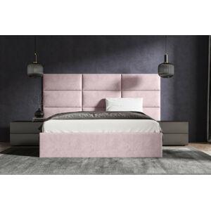 Čalouněná postel Lucy 2 - 160x200 cm Barva látky Casablanca: Pastelová růžová (19)
