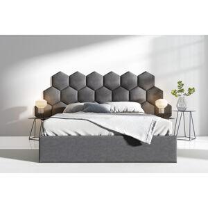 Čalouněná postel Lucy 3 - 160x200 cm Barva látky Casablanca: Grafitová (15)