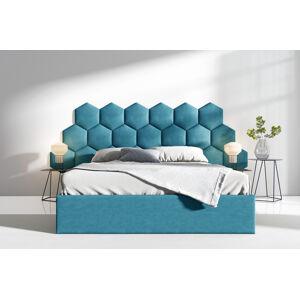 Čalouněná postel Lucy 3 - 180x200 cm Barva látky Casablanca: Azurová (13)