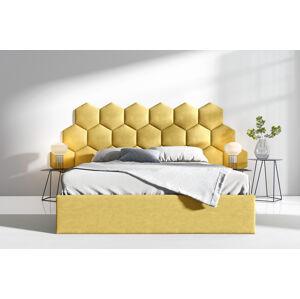 Čalouněná postel Lucy 3 - 180x200 cm Barva látky Casablanca: Žlutá (18)