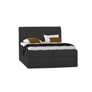 Kontinentální čalouněná postel Lory - Trinity (180x200 cm) Barva látky Casablanca: Černá (16)