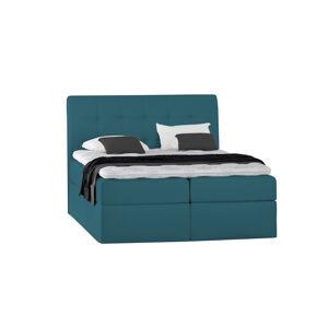 Kontinentální čalouněná postel Lory - Trinity (120x200 cm) Barva látky Casablanca: Azurová (13)