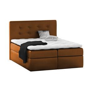 Kontinentální čalouněná postel Nora - Eko-kůže (180x200 cm) Barva látky Eko-kůže: Světle hnědá (03)