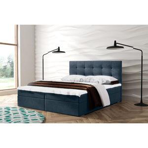 Kontinentální čalouněná postel Oslo - Lux (140x200 cm) Barva látky Lux: 20 Modrošedá