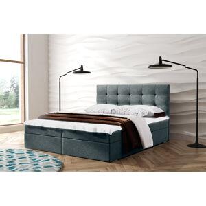 Kontinentální čalouněná postel Oslo - Cassablanca (140x200 cm) Barva látky Casablanca: Šedá (14)