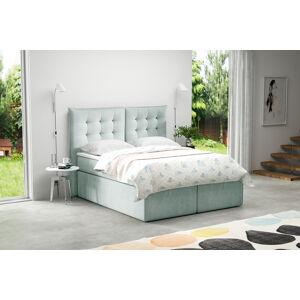 Kontinentální čalouněná postel Soft - Cassablanca (180x200 cm) Barva látky Casablanca: Mintová (21)