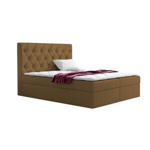 Kontinentální čalouněná postel Elegant - Fresh (180x200 cm) Barva látky - Fresh: Béžová (03)