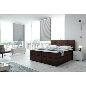 Kontinentální čalouněná postel Smoth - Cassablanca (200x200 cm) Barva látky Casablanca: Tmavá hnědá (08)