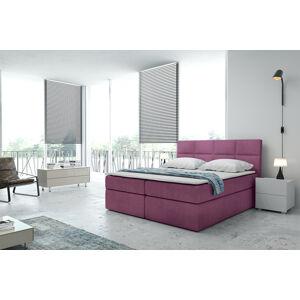 Kontinentální čalouněná postel Smoth - Cassablanca (120x200 cm) Barva látky Casablanca: Fialová (11)