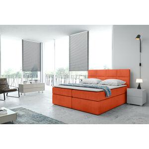 Kontinentální čalouněná postel Smoth - Cassablanca (120x200 cm) Barva látky Casablanca: Oranžová (17)