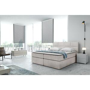 Kontinentální čalouněná postel Smoth - Cassablanca (120x200 cm) Barva látky Casablanca: Krémová bíla (01)
