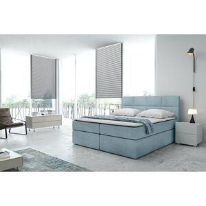 Kontinentální čalouněná postel Smoth - Cassablanca (90x200 cm) Barva látky Casablanca: Modrá (22)