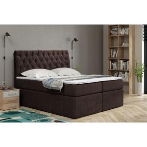 Kontinentální čalouněná postel Luxurious - Cassablanca (90x200 cm) Barva látky Casablanca: Tmavá hnědá (08)