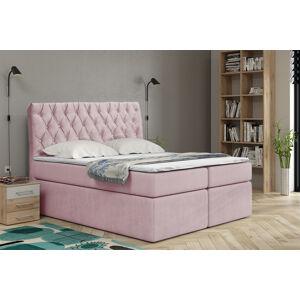 Kontinentální čalouněná postel Luxurious - Cassablanca (90x200 cm) Barva látky Casablanca: Pastelová růžová (19)