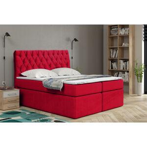 Kontinentální čalouněná postel Luxurious - Cassablanca (120x200 cm) Barva látky Casablanca: Červená (09)