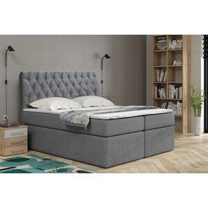 Kontinentální čalouněná postel Luxurious - Cassablanca (160x200 cm) Barva látky Casablanca: Šedá (14)