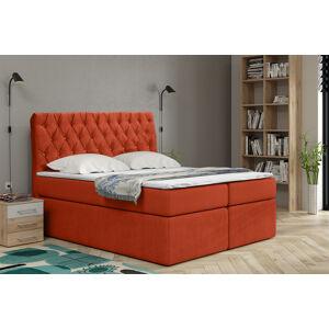 Kontinentální čalouněná postel Luxurious - Cassablanca (180x200 cm) Barva látky Casablanca: Oranžová (17)