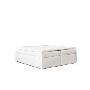 Kontinentální čalouněná postel Classic - Cassablanca Bílá (120x200 cm)