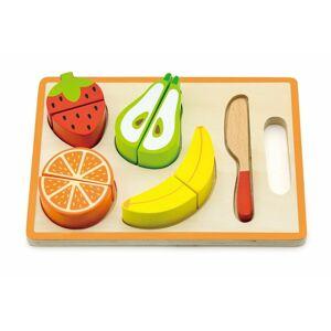 NEF Dětská dřevěná sada - Motorické ovoce s prkénkem