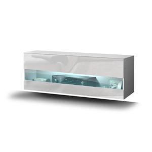 Skříň horizontální GS 5 Barva Dřeva: Bílá matná + lesklé čelo