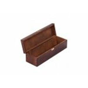 FK Dřevěná krabička na láhev alkoholu - Ořech 36x11x10 cm