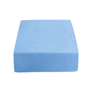 PupyHou Dětské prostěradlo do postele Froté - 120 x 60 cm, Modrá
