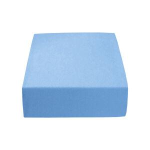 PupyHou Dětské prostěradlo do postele Jersey - 120 x 60 cm, Modrá