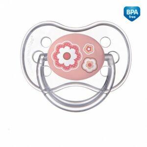 Canpol babies Dudlík 0-6m silikonový symetrický NEWBORN BABY růžový