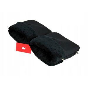 BBL Rukavice na madla kočárku minky - černý / černý