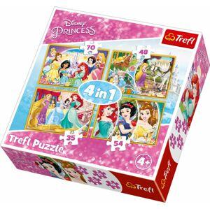 Dětské puzzle 4 v 1 - Disney princezny