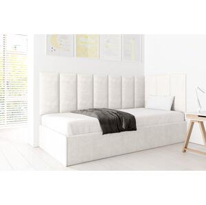 Eka Čalouněná postel Lucy - 90x200 cm Barva látky Trinity: (2301) Krémová bíla